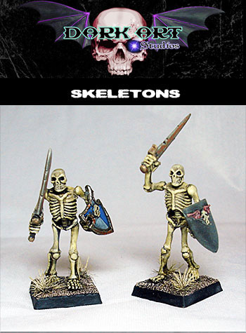 Undead miniatures produced by Dark Art Studios