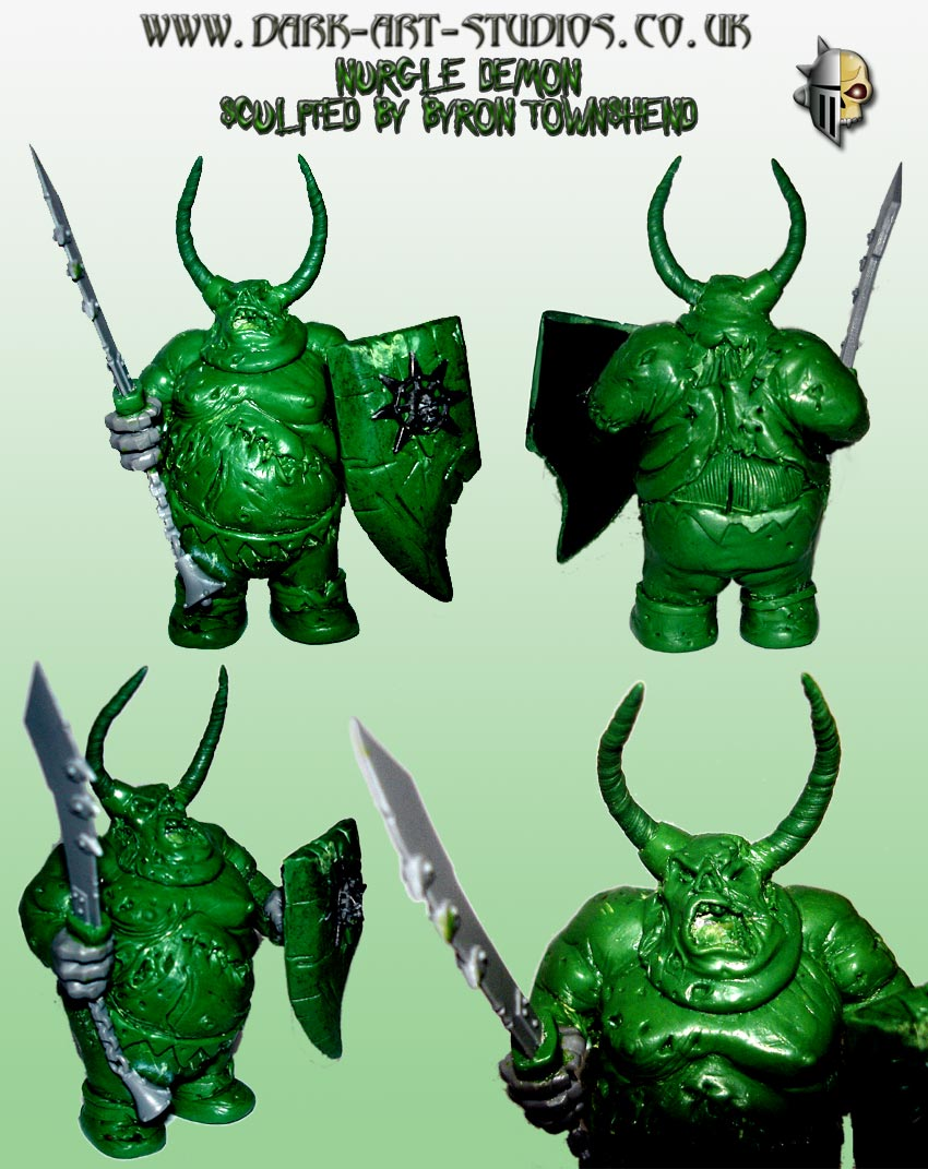 Nurgle Demon Sculpted by Byron Townshend