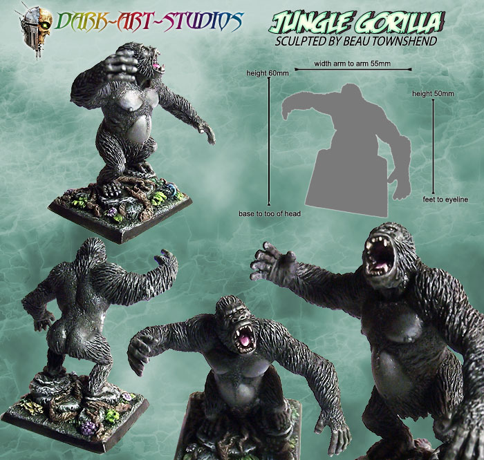 Jungle-Gorilla_Sculpted_By-Beau_Townshend_PAINTED