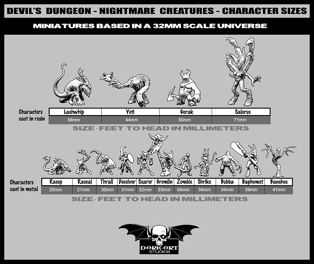 nightmare-creatures-collection-sizes